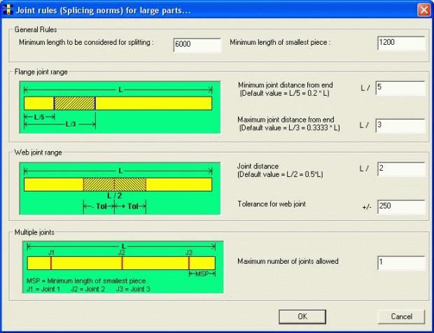 Bar Nesting Software - PLUS 1D : Large Parts with Joints (Add On Module)