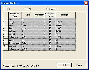 Bar Nesting Software - PLUS 1D : Unit Setting - Set your working units - Engilsh Units also.